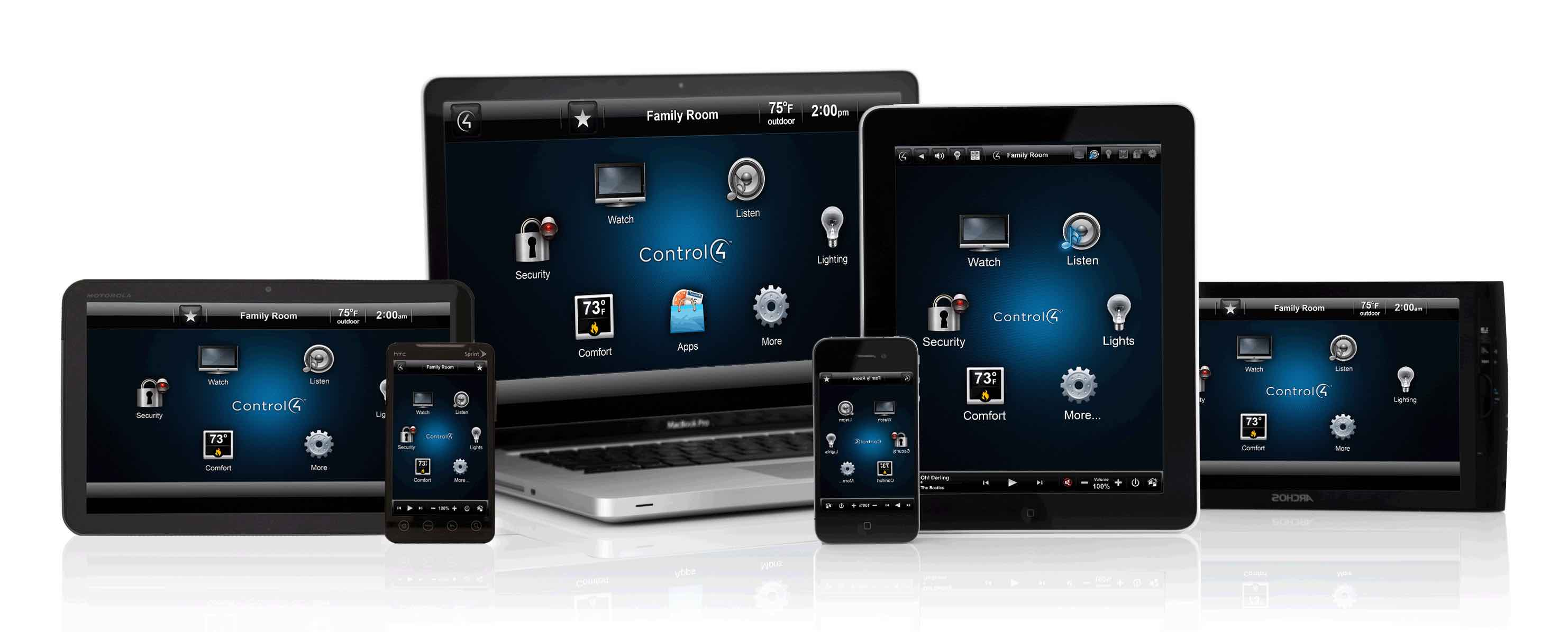 Control 4 - PC- & Mobile-Bedienstellen